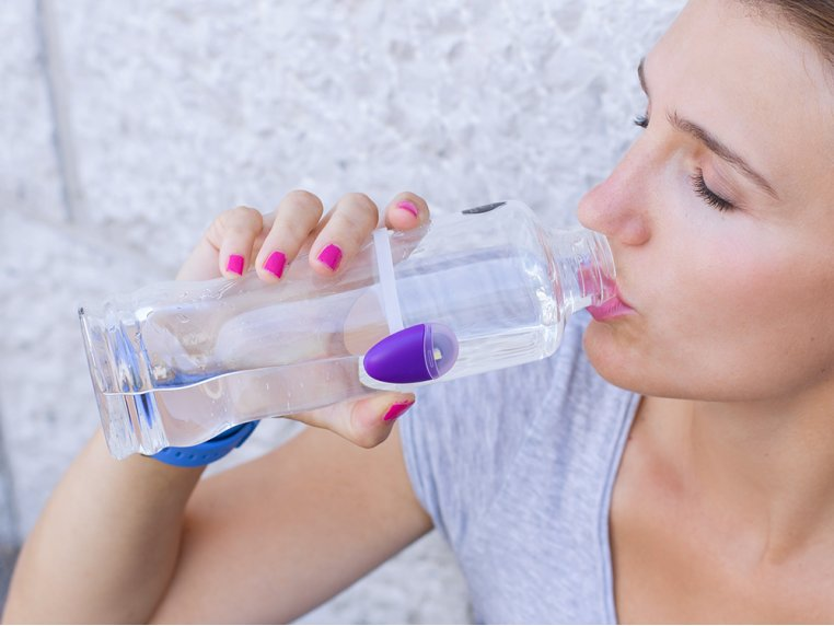 Hydration Reminder Bottle Accessory - Purple by Ulla - 1