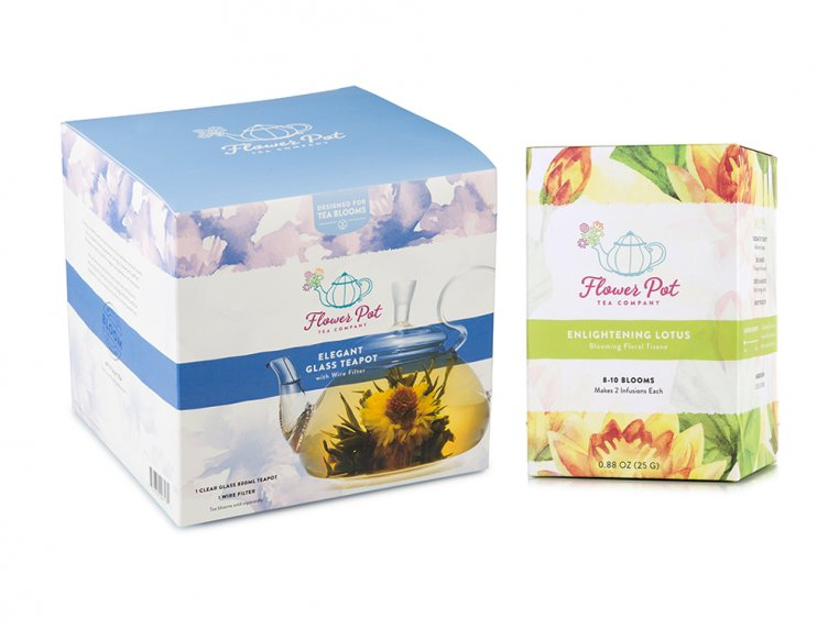 Floral Lotus Tisane & Teapot by Flower Pot Tea Company - 5