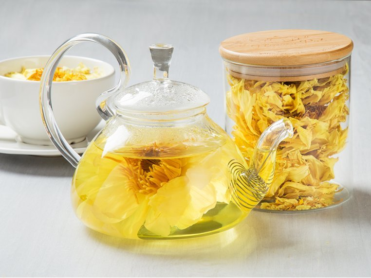 Floral Lotus Tisane & Teapot by Flower Pot Tea Company - 1