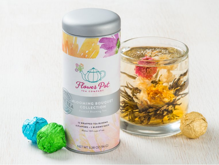 Blooming Tea Variety Tin & Teapot by Flower Pot Tea Company - 7