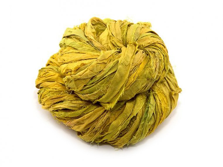 Upcycled Sari Silk Ribbon Yarn by Darn Good Yarn - 4