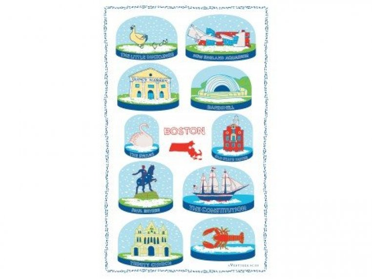 Snow Globe Tea Towels by Vestiges - 1