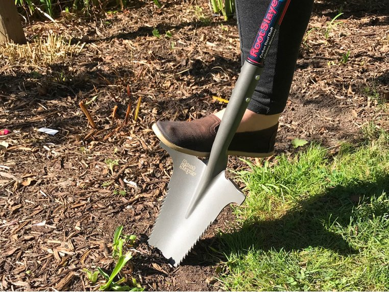 Root Slayer Carbon Steel Shovel by Radius Garden - 2