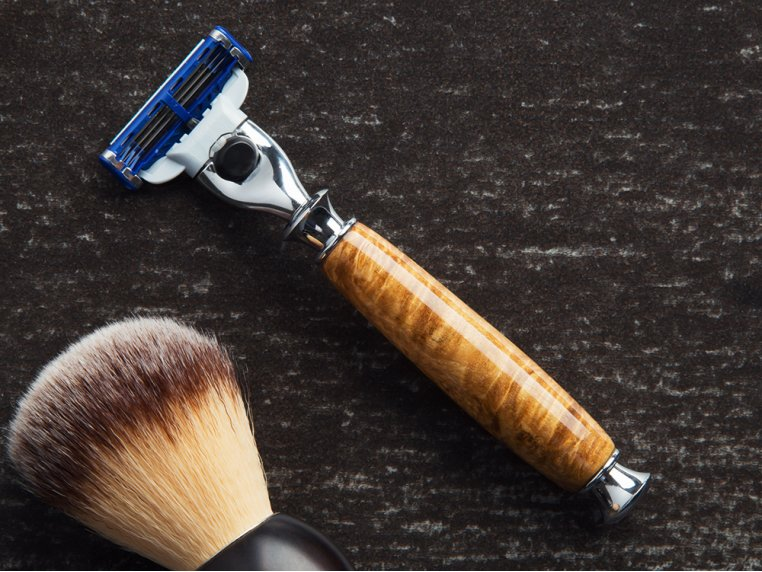 Handcrafted Wooden Razor Handle by Imperium Shaving - 1