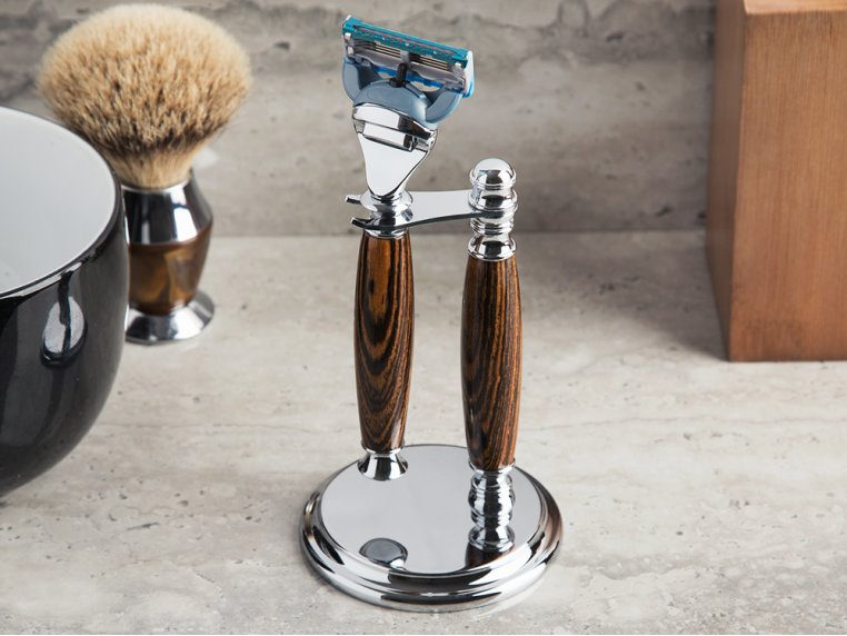 Handcrafted Wooden Razor Handle & Stand by Imperium Shaving - 1