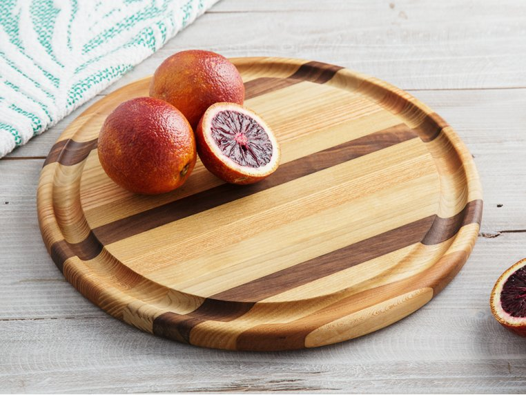 Round Handcrafted Grooved Cutting Board by Dickinson Woodworking - 1