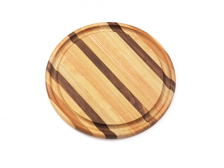 Round Handcrafted Grooved Cutting Board by Dickinson Woodworking - 4