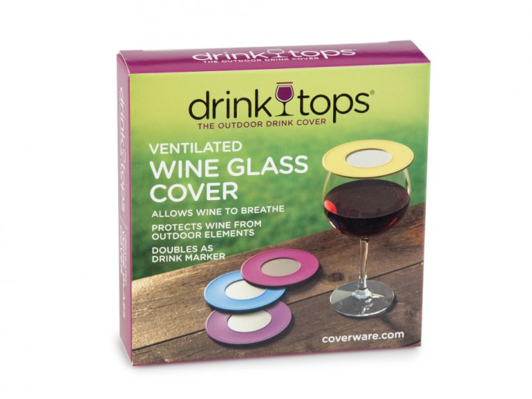 Ventilated Wine Drink Covers by Drink Tops™ - 5