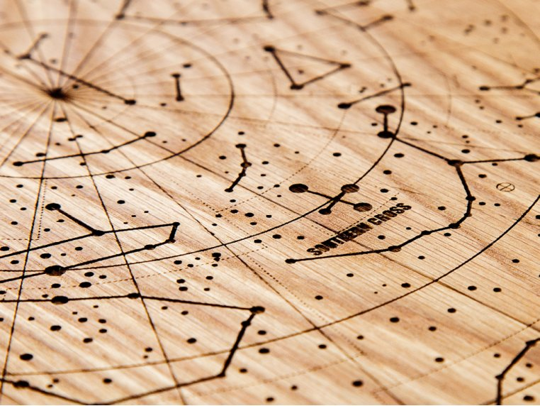 Engraved Wood Constellation Map by Citizen Woodshop - 3