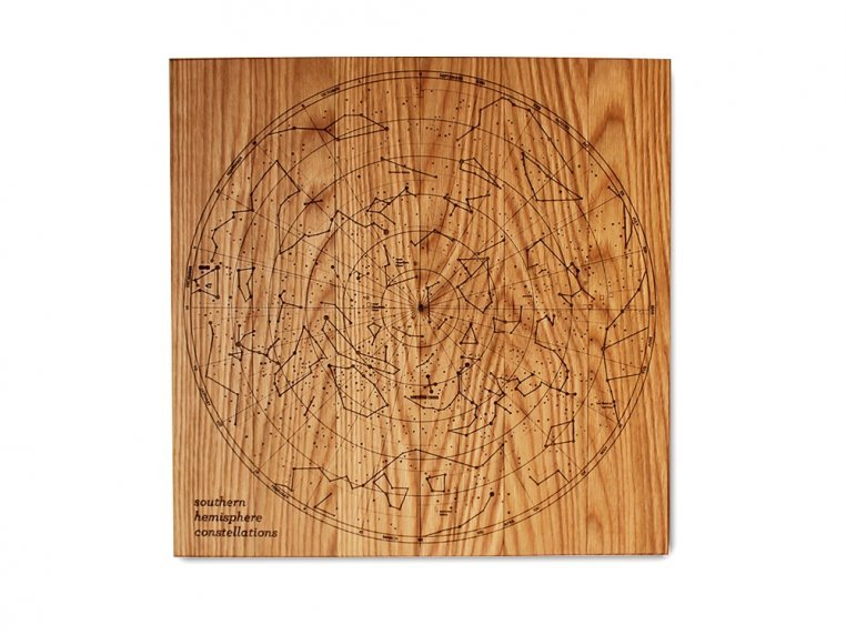 Engraved Wood Constellation Map by Citizen Woodshop - 4
