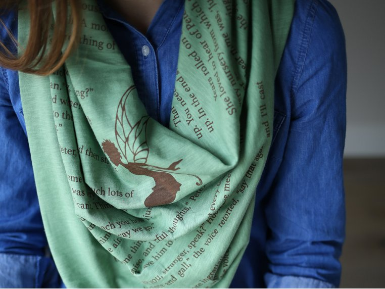 Book Themed Lightweight Scarf by STORIARTS - 2