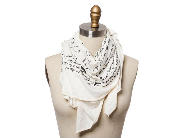 Book Themed Lightweight Scarf by STORIARTS - 5