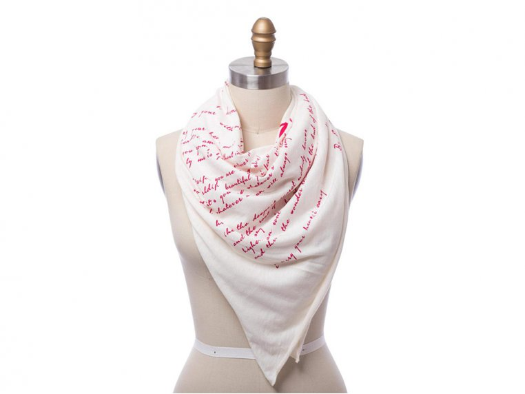 Book Themed Lightweight Scarf by STORIARTS - 8