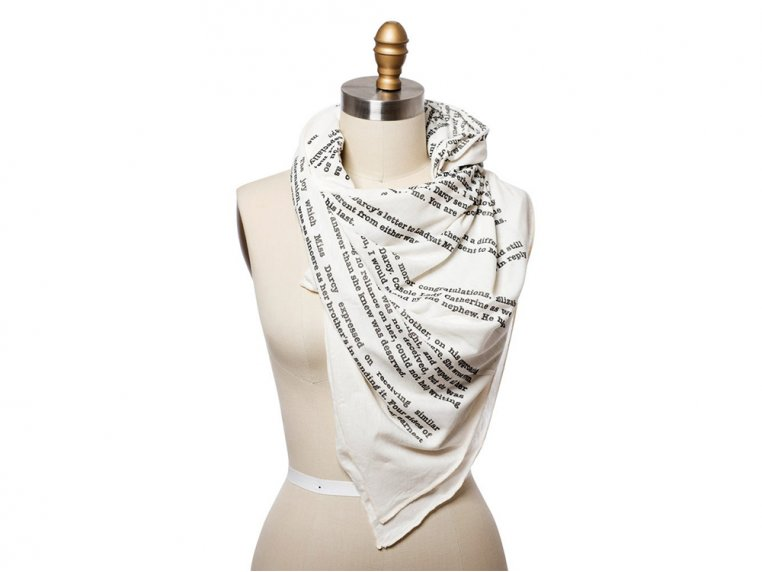 Book Themed Lightweight Scarf by STORIARTS - 10