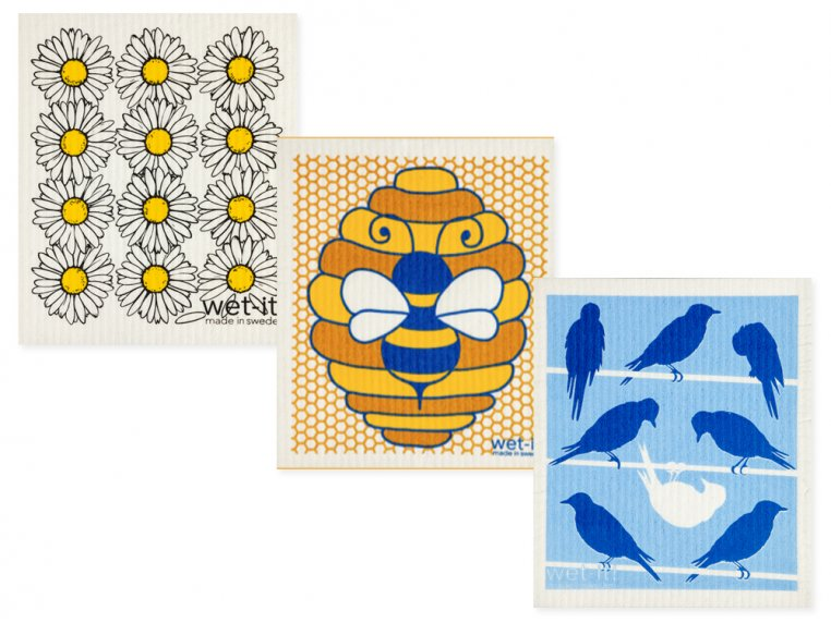 Swedish Dishcloth - 3 Pack by Wet-It! - 11