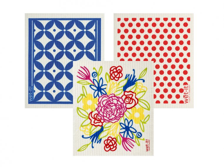 Swedish Dishcloth - 3 Pack by Wet-It! - 18