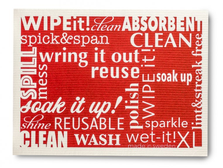 Large Swedish Cleaning Cloth - 2 Pack by Wet-It! - 1