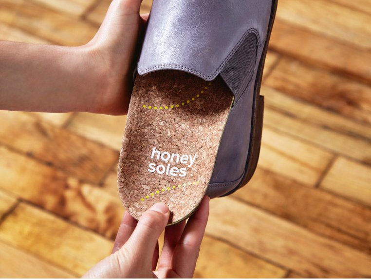 Natural Cork Insoles by Honey Soles - 3