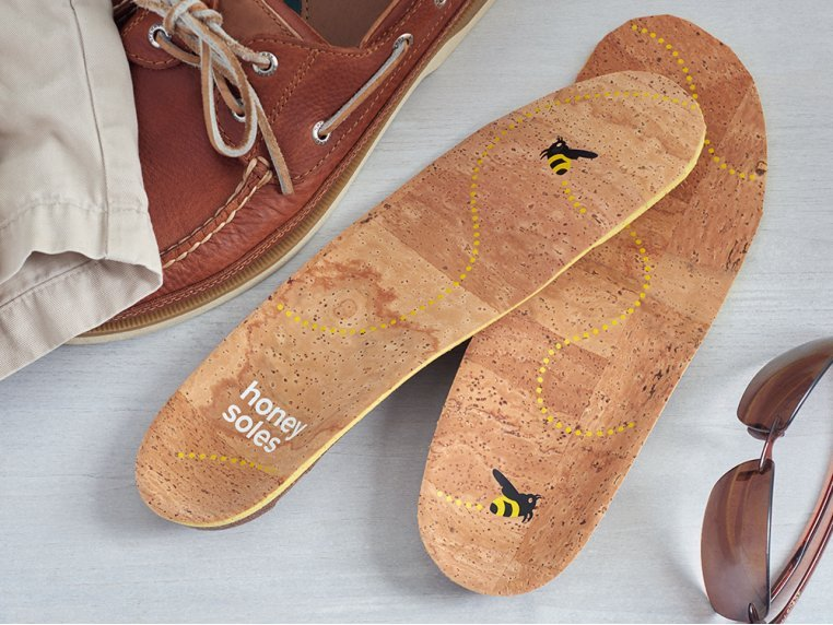 Natural Cork Insoles by Honey Soles - 1