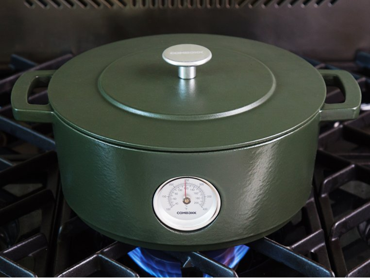 Cast Iron Dutch Oven with Thermometer by Combekk - 1