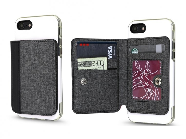 Universal Stick-On Cell Phone Wallet by Gear Beast - 17
