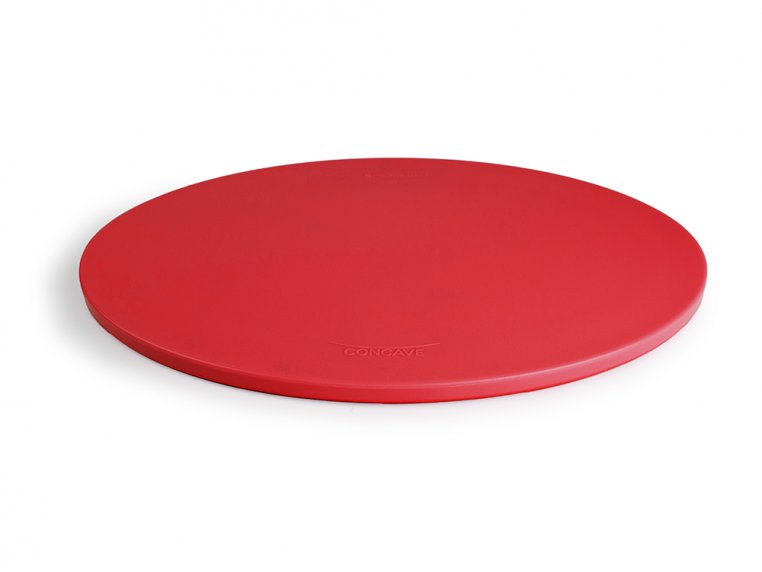 Poly Concave Cutting Board - Red