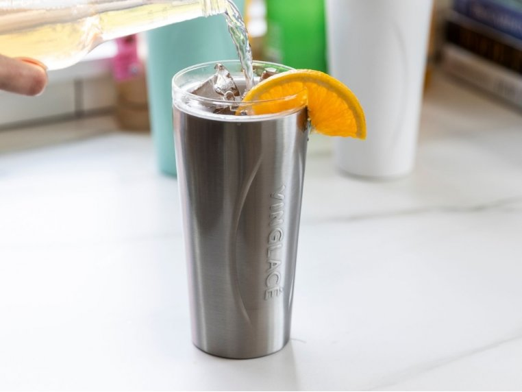 Stainless Steel Glass Tumbler by Vinglacé - 2