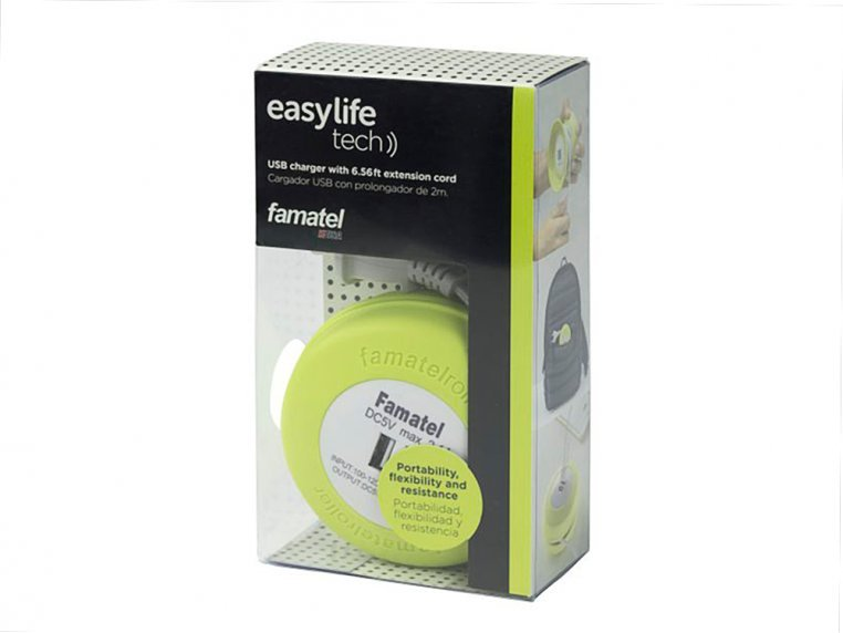 6.5 ft Extension Cord with Reel by EasyLife - 5