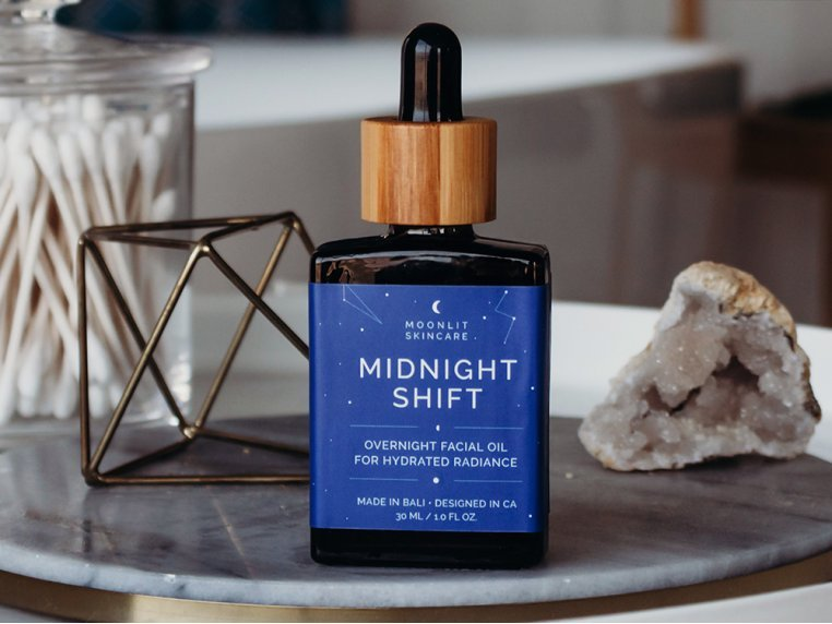 Nighttime Hydrating Facial Oil by Moonlit Skincare - 1