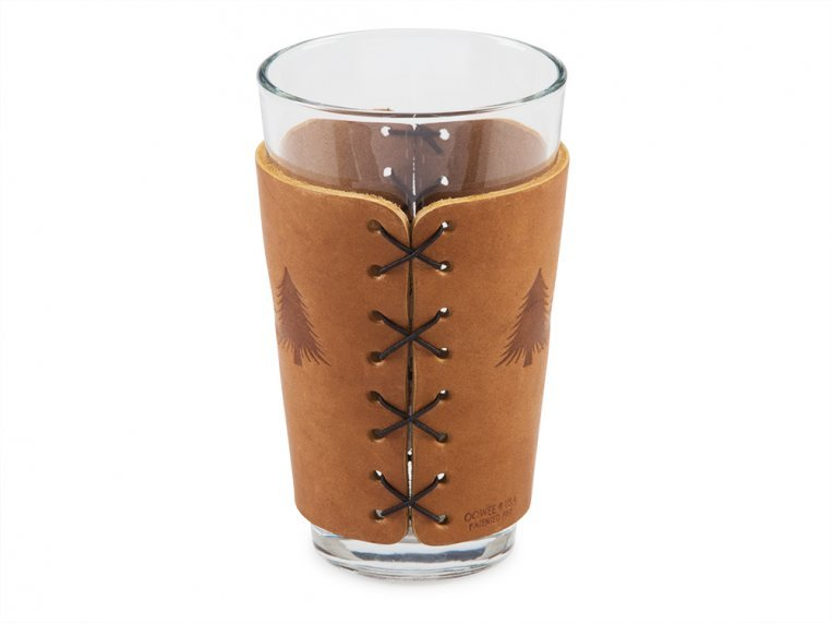 Leather Pint Glass Sleeve Gift Set by Oowee - 3