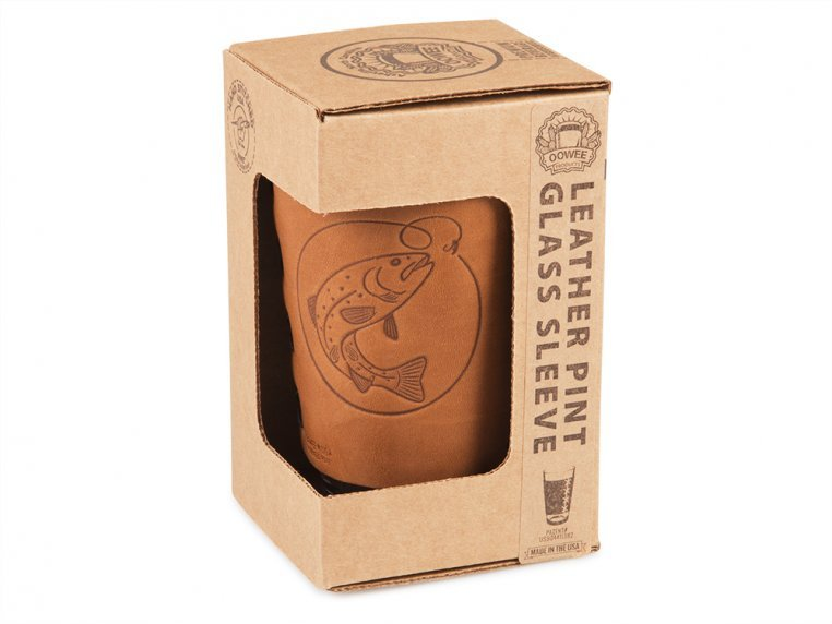 Leather Pint Glass Sleeve Gift Set by Oowee - 4