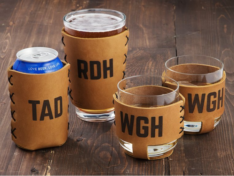 Personalized Leather Drink Sleeves by Oowee - 1