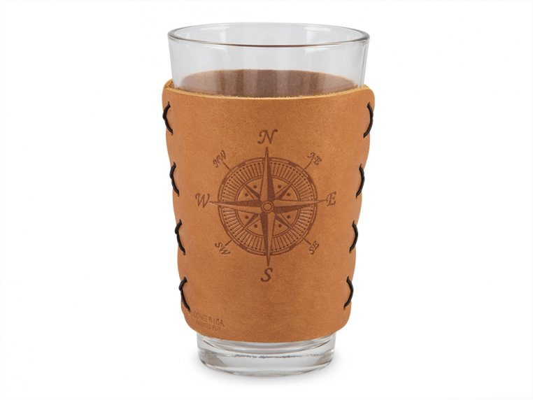 Leather Pint Glass Sleeve Gift Set by Oowee - 7