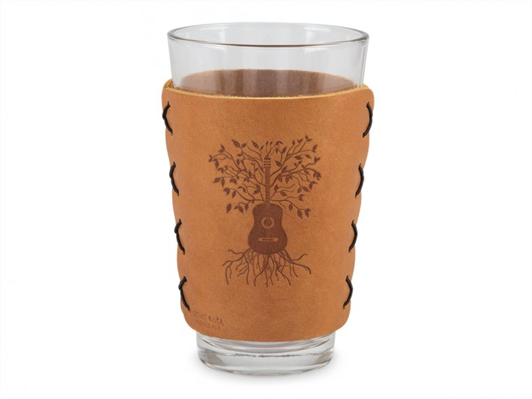 Leather Pint Glass Sleeve Gift Set by Oowee - 8