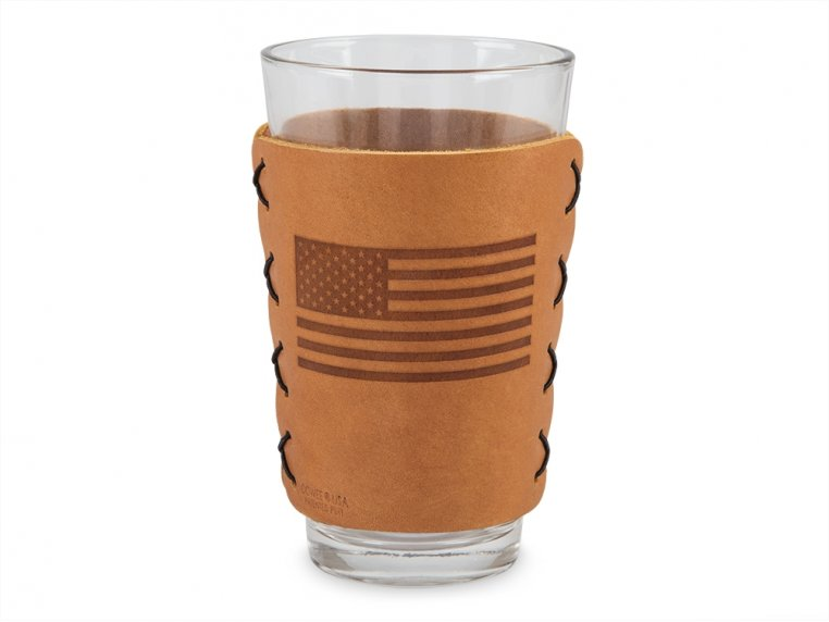 Leather Pint Glass Sleeve Gift Set by Oowee - 5