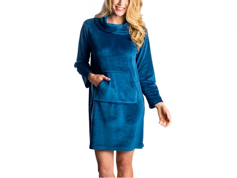 Velour Lounge Dress by Softies - 6