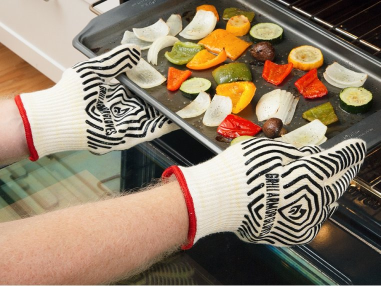 Heat-Resistant Cooking & Grilling Gloves by Grill Armor Gloves - 2