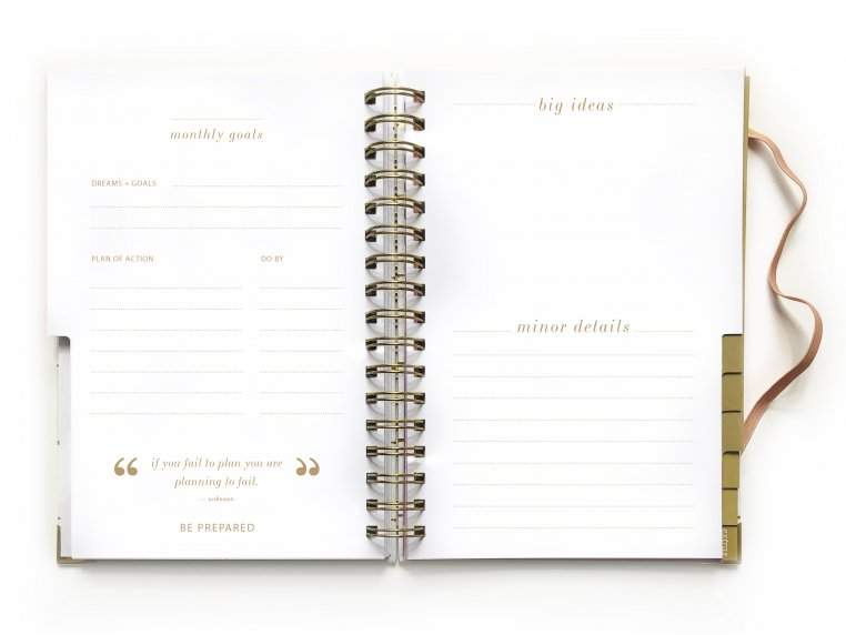 Undated Weekly Dream Plan Do Planner by lake + loft - 6