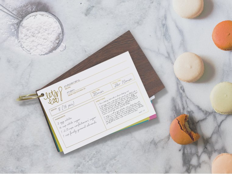 Wooden 'Let's Eat' Recipe Card Holder by lake + loft - 1