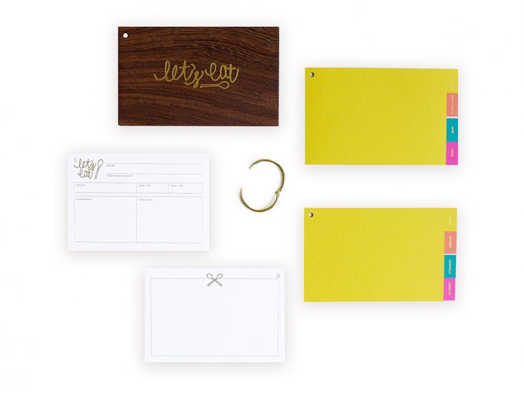 Wooden 'Let's Eat' Recipe Card Holder by lake + loft - 3