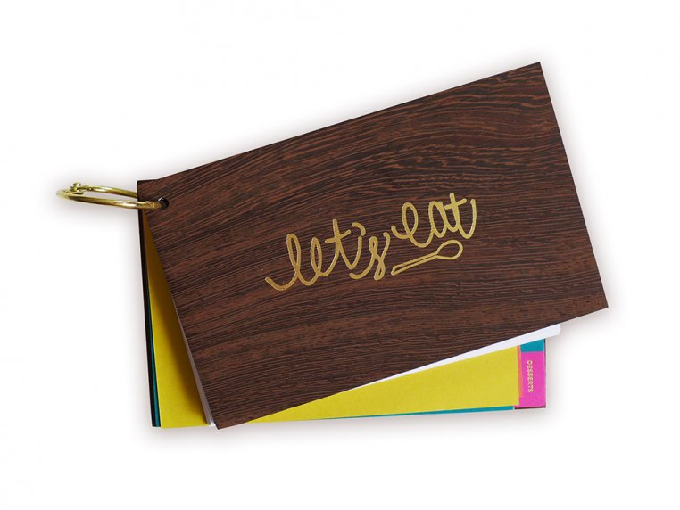 Wooden 'Let's Eat' Recipe Card Holder by lake + loft - 4