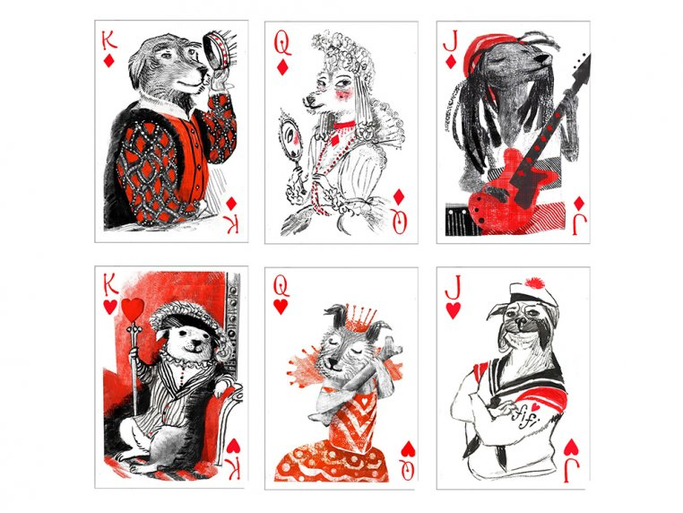 Pack of Dogs Playing Cards by Artiphany - 2