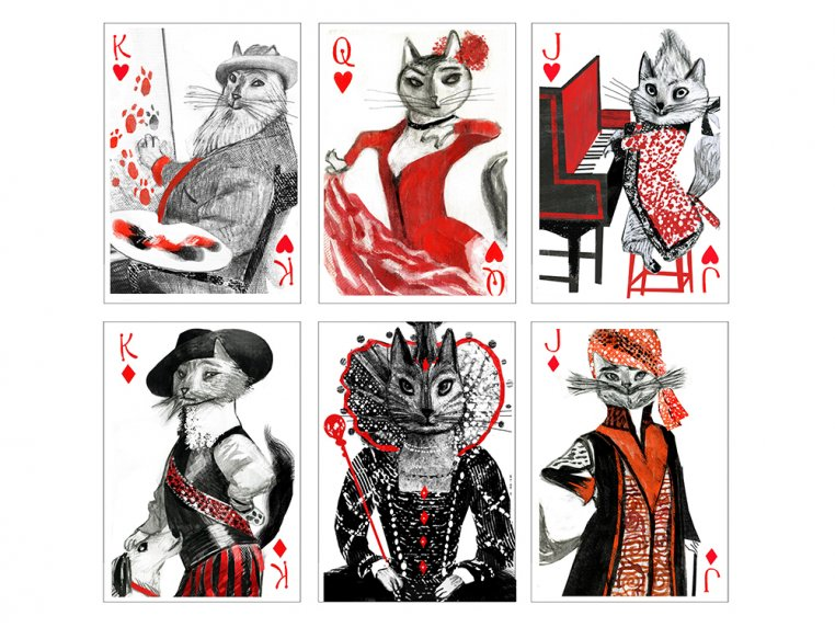 Kitten Club Playing Cards by Artiphany - 2
