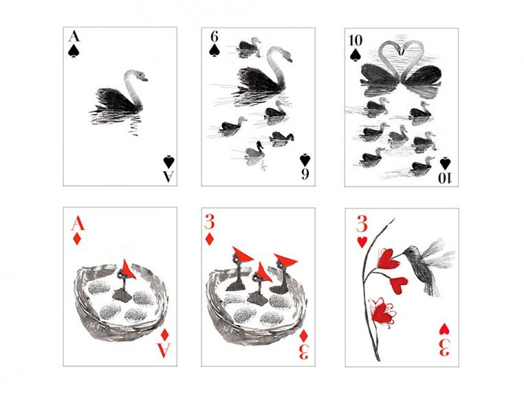 Flock of Birds Playing Cards by Artiphany - 3