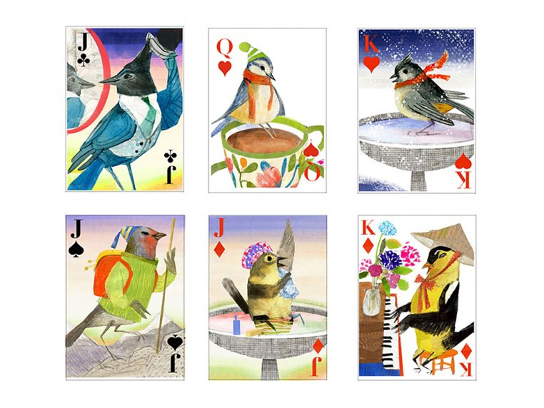 Flock of Birds Playing Cards by Artiphany - 4