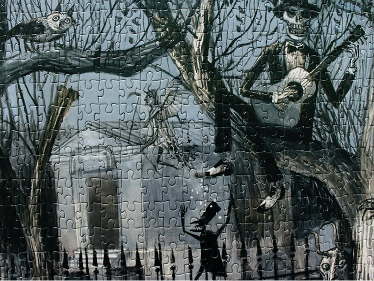 1000 Piece Sinister Visitors Puzzle by Artiphany - 3