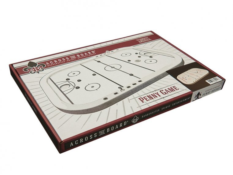 Wooden Tabletop Penny Hockey Game by Across The Board - 3