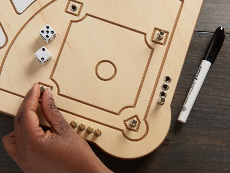 Wooden Tabletop Baseball  Game by Across The Board - 2