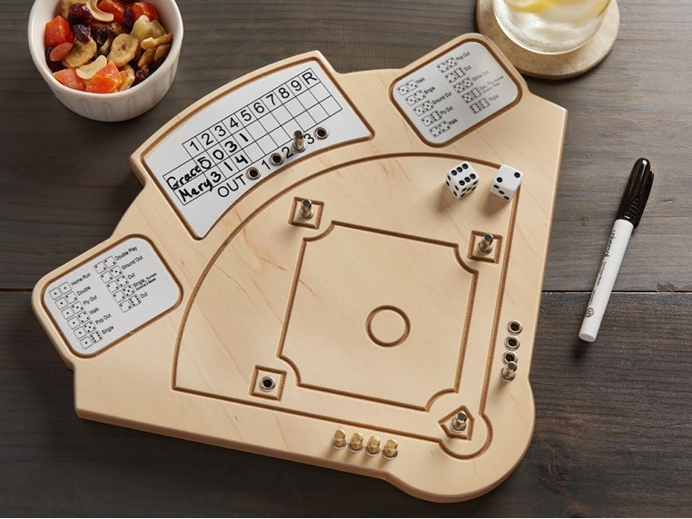 Wooden Tabletop Baseball  Game by Across The Board - 1