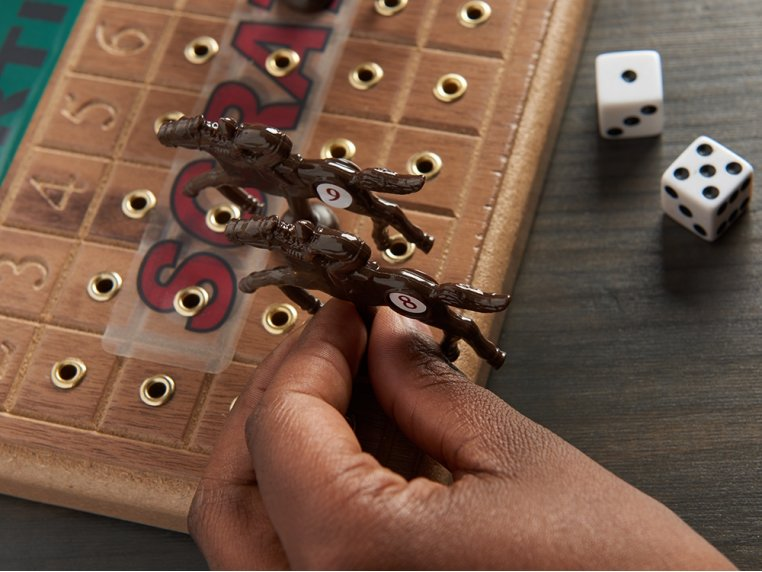 Wooden Tabletop Horseracing Game by Across The Board - 2